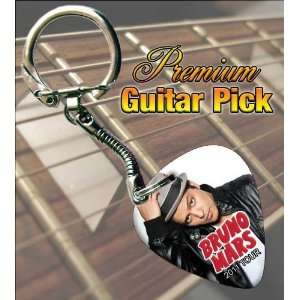 Bruno Mars 2011 Tour Premium Guitar Pick Keyring Musical