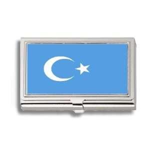 East Turkestan Republic Flag Business Card Holder Metal