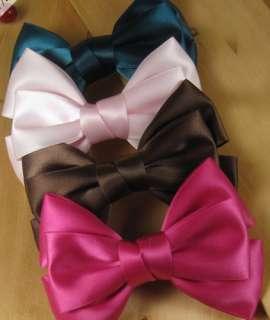 Lovely Cute Silk Girls Butterfly Bow Hair Clip Headbands NEW