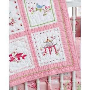 Pink Pagoda Nursery Baby Bedding Quilt Baby