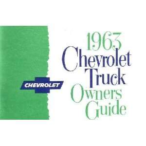 1963 CHEVROLET TRUCK Full Line Owners Manual User Guide