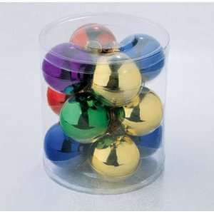 Set of 12 Traditional Multi Color Glass Ball Christmas Ornaments 2.5