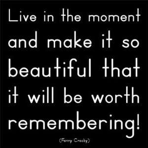Live in The Moment!   Fanny Crosby Magnet:  Kitchen