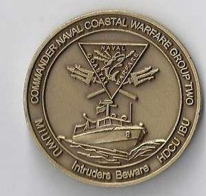 Naval Special Warfare Group Two CPO Navy Challenge Coin