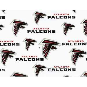 Cotton NFL Atlanta Falcons Football Print Cotton Fabric By
