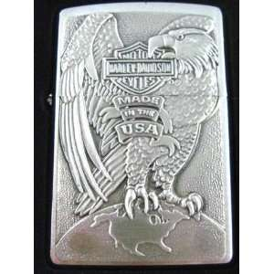 Official Harley Davidson Made In USA Eagle Zippo Lighter