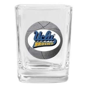 Set of 2 UCLA Bruins Basketball Square Shot Glass   NCAA