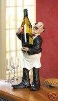 Chef Waiter Butler Man Wine Bottle Holder Display Rack