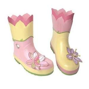 Kidorable Lotus Flower Rain Boots   Size 5:  Sports