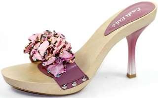 Mauve Pink Open Toe High Heel Platform Slide Sandal Women Shoes 8 us