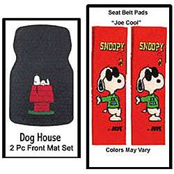 Snoopy Floor Mats and Car Accessory Set