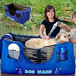 Hugs Pet Products Inflatable Blue Dog Wash  Overstock