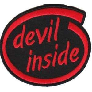 DEVIL INSIDE FUN INTEL Embroidered NEW Biker Vest Patch