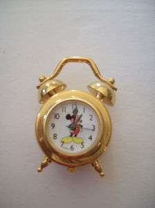 Mickey Mouse Miniature Mini Collectible Alarm Clock Two Bell Verichron