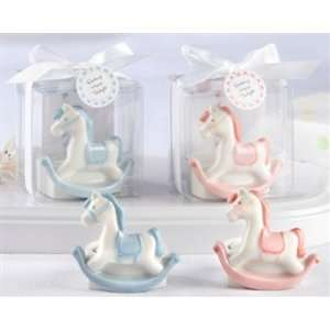 Rock a Bye Carousel Ceramic Rocking Horse Tealight Holder (Pink or