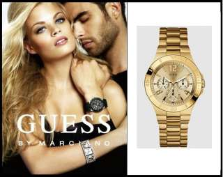GUESS WOMEN WATCH CHRONOGRAPH GOLD BRACELET, U12631L1