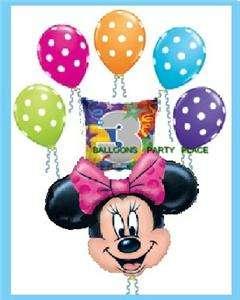 MINNIE MOUSE 3rd birthday polka dot balloon PARTY three