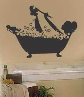 Vinyl Wall Art Decal Sticker Bathtub Bubbles Bath