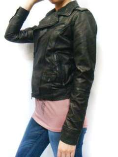 NWT DIESEL Women LIUKKI Biker Soft Lamb Leather Jacket
