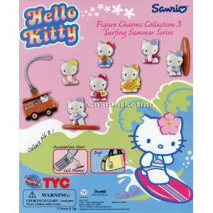 Hello Kitty Charms Summer series 3 Capsule Toys Set of 8