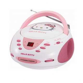 HELLO KITTY CD PLAYER BOOMBOX AM/FM STEREO RADIO w/ DYNAMIC SPEAKERS