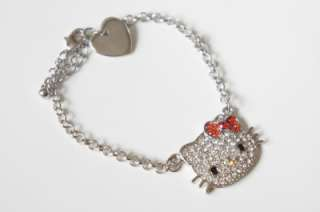 HELLO KITTY RED BOW BRACELET WITH SWAROVSKI CRYSTAL