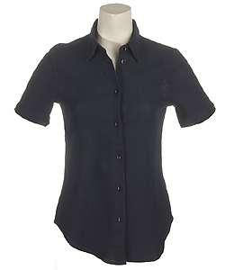 Trussardi Jeans Womens Navy Blue Dress Shirt