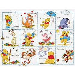Pooh and Friends Calendar Cross Stitch Kit