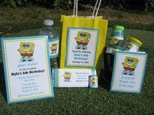 Birthday PDF CD w/ Invitation Favor Tag Water Candy Gum Bubble Wrapper