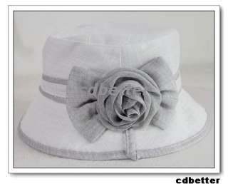 Elegant Flower Bling Princess Bucket Sun Hat Cap WOMENS