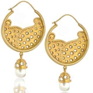 Sterling silver gold filled hoop earrings rose cut jewelry cz designer