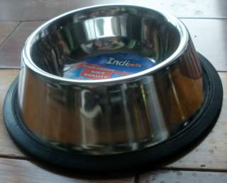 Stainless Steel Dish Dog Cat Pet Bowl 8 oz 874538000531
