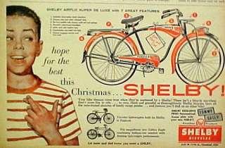 Super De Luxe Bicycle~AMF Boys Kids Bike Christmas Promo Ad