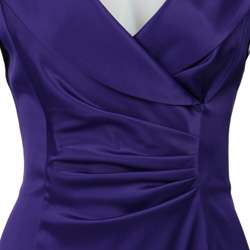 Jessica Howard Womens Purple Sheath Dress  Overstock