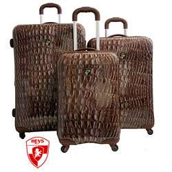 Heys USA Exotic Crocodile 3 piece Hardside Spinner Luggage Set
