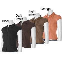 Faith Love Passion Juniors Gauzy Cap Sleeve Shirt  Overstock