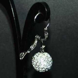 12mm Swarovski Crystal Disco Ball Earring Studs+Gift Box