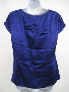 You are bidding on a TAHARI Purple Silk Cap Sleeve Shirt Top Blouse in