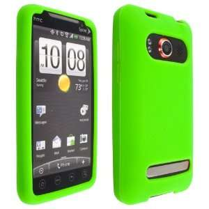 Premium Light Green Soft Silicone Skin Case Cover for HTC EVO