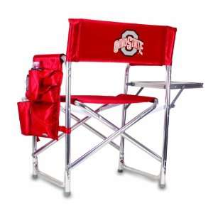 NCAA Ohio State Buckeyes Portable Folding Sports Chair (Red)
