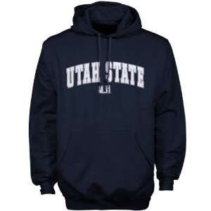 Utah State Aggies Navy Blue Player Pro Arched Hoody