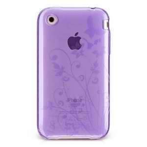 Butterfly Flower Garden Crystal Soft Skin for Apple Iphone 3g 3gs