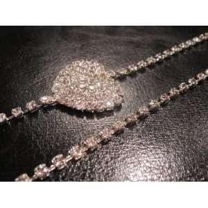Dress Straps Heart Swarovski Crystals Wedding Gown Party Bridal Gift