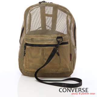 BN CONVERSE Unisex Mesh Backpack / Book Bag *Gold*