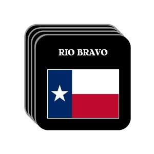 US State Flag   RIO BRAVO, Texas (TX) Set of 4 Mini Mousepad Coasters