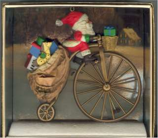 Hallmark Cycling Santa Claus 1982 Christmas Ornament