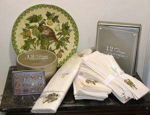 12 DAYS of CHRISTMAS Plates/Platter/Napkins/Rings/Runner S/62
