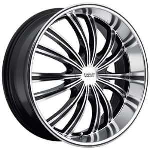 Cruiser Alloy Shadow 22x9.5 Machined Black Wheel / Rim 5x115 & 5x5