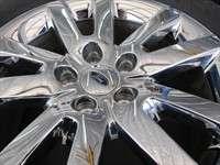 Four 2011 Ford Edge Factory 18 Chrome Clad Wheels Tires Flex OEM Rims