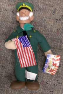 Beetle Bailey General Halftrack 9 Plush Doll 2000 Toy Works Comic